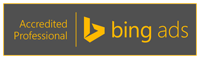 Badge for Bing Ads Accredited Professional Status