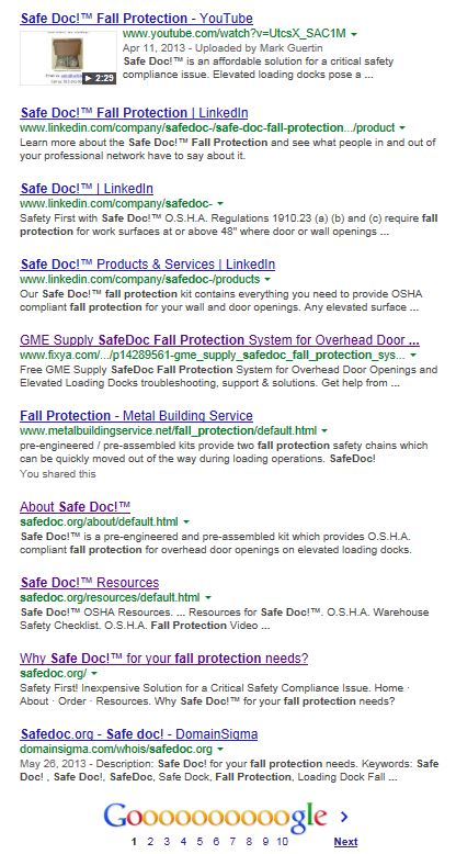 Image of SERP that shows the effectiveness of SMM