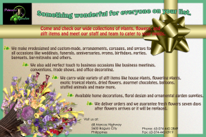 Advertising Artwork For Flower Shop