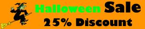 Halloween Discount Sale Advertising Banner