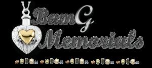 Black and grey logo design for BamG Memorials