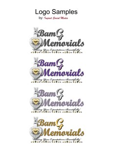 logo collage for BamG Memorials artwork