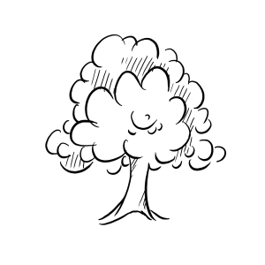 Tree Outline Graphic