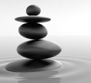 Zen Artwork Balanced Stones
