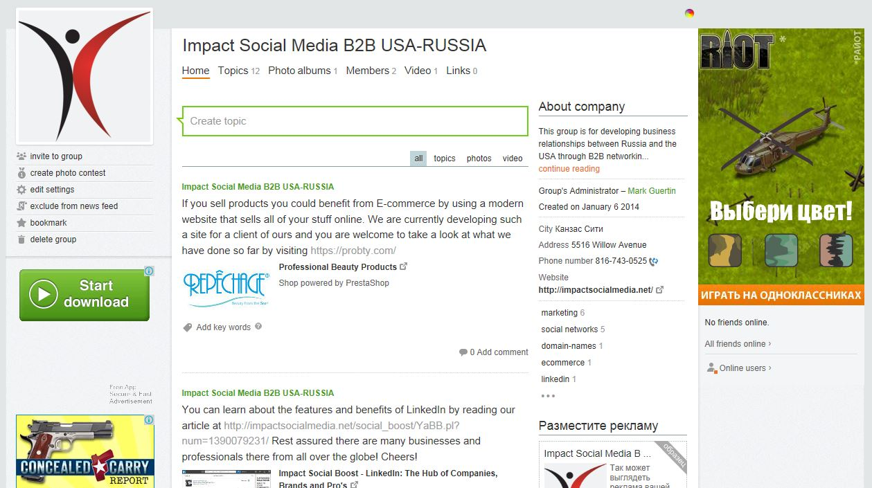 Odnoklassniki Impact Social Media Group