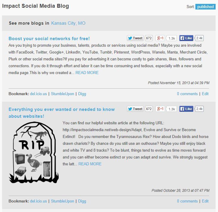 Blogging At Merchant Circle