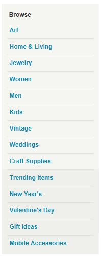 Browse Etsy Categories