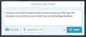 Compose Twitter Tweet