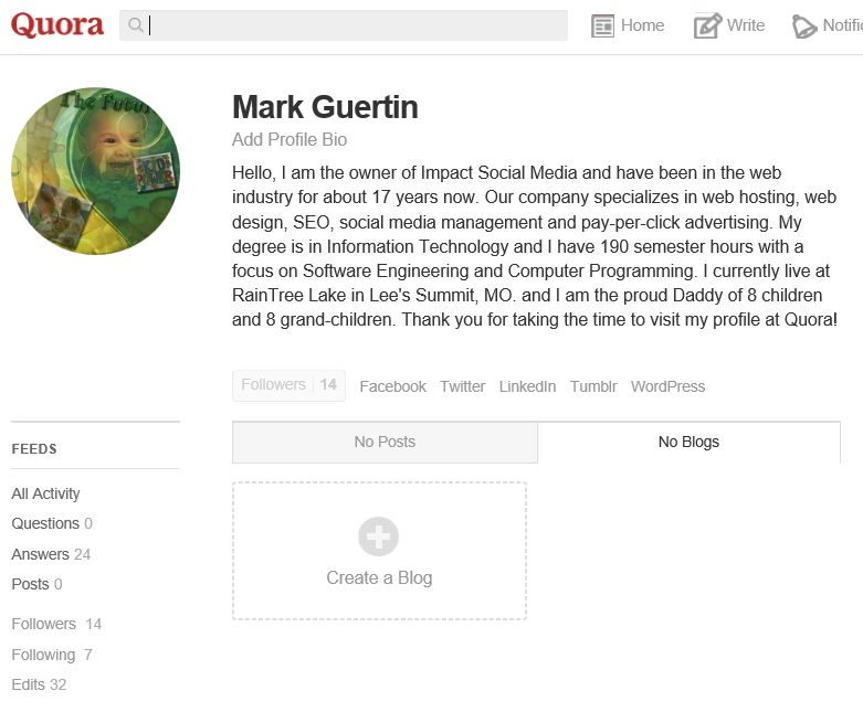 Create A Blog At Quora