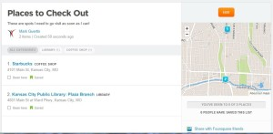 Creating Lists With Foursquare