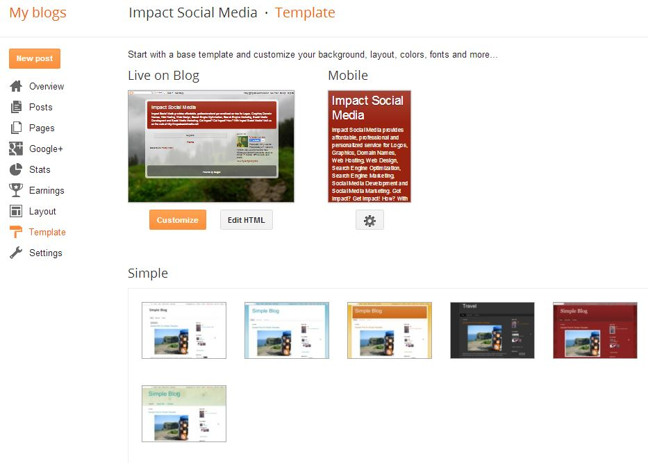 Customize Your Blogger Blog Appearance