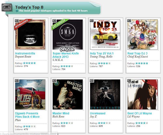 Datpiff Mix Tape Todays Top 8