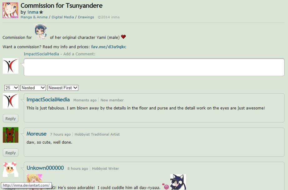 Devianart Comments