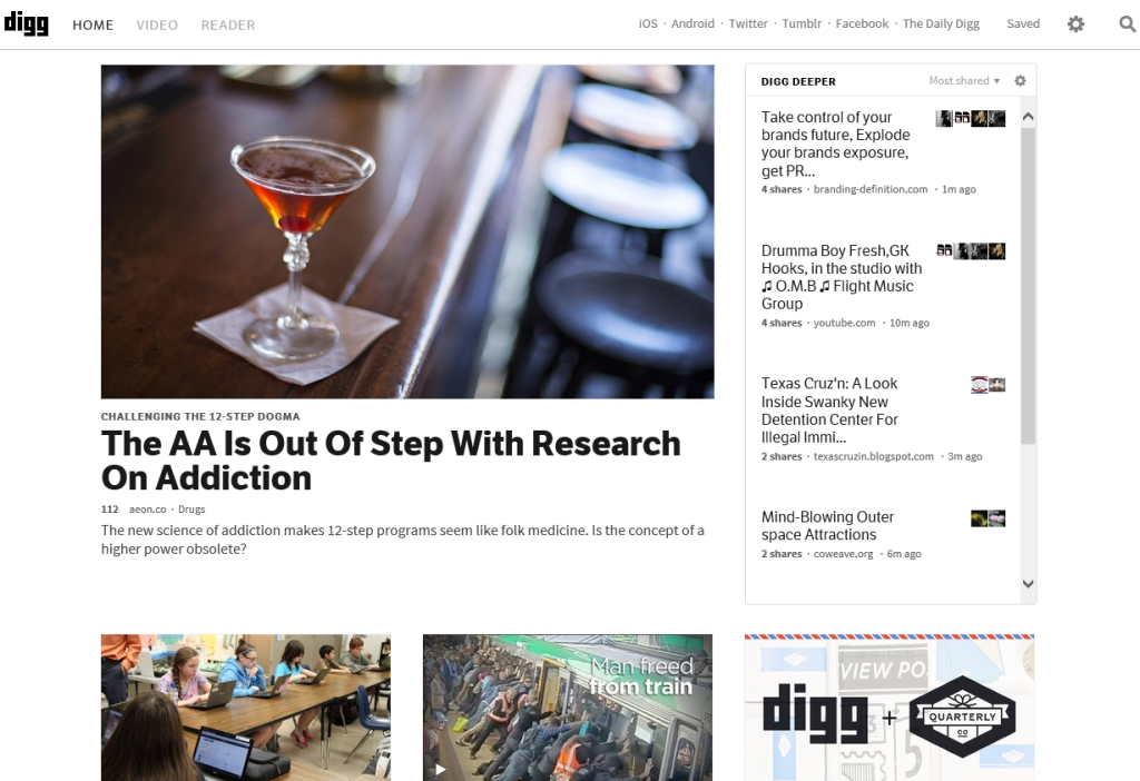 Digg Home Page