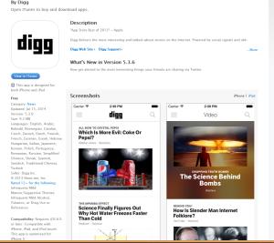 Digg Mobile App