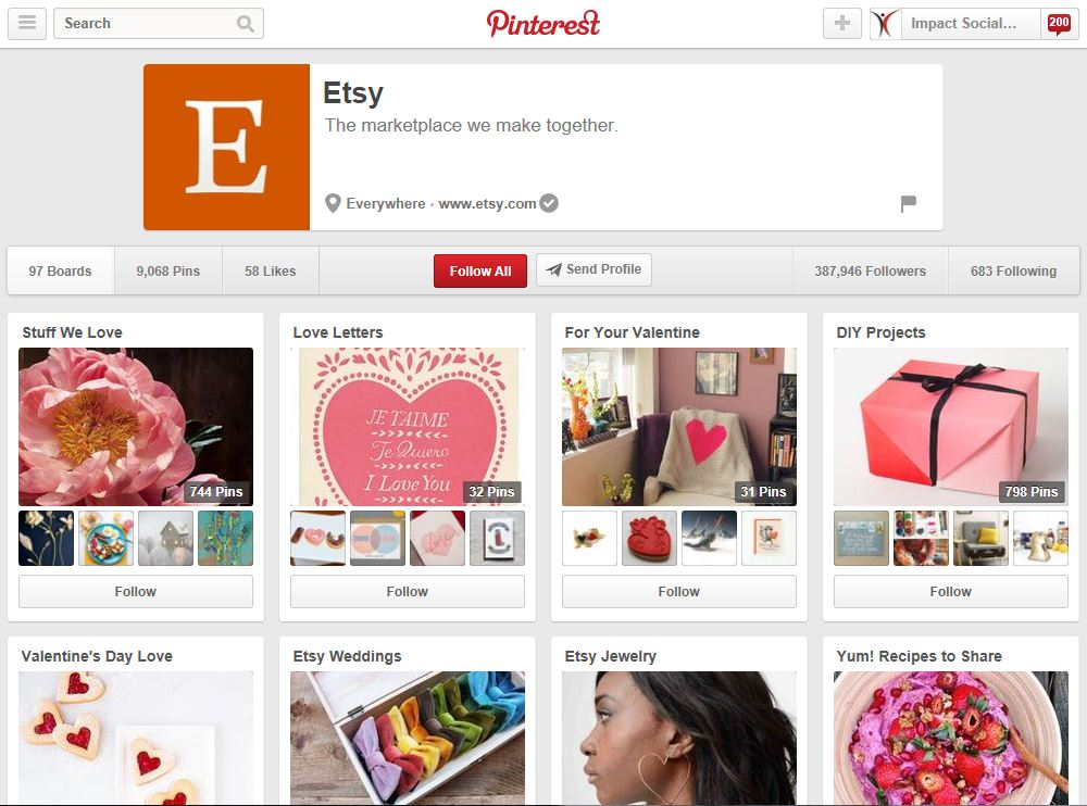 Etsy On Pinterest