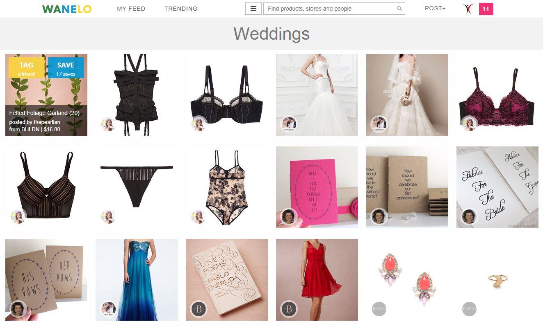 Following Wedding Merchandise At Wanelo