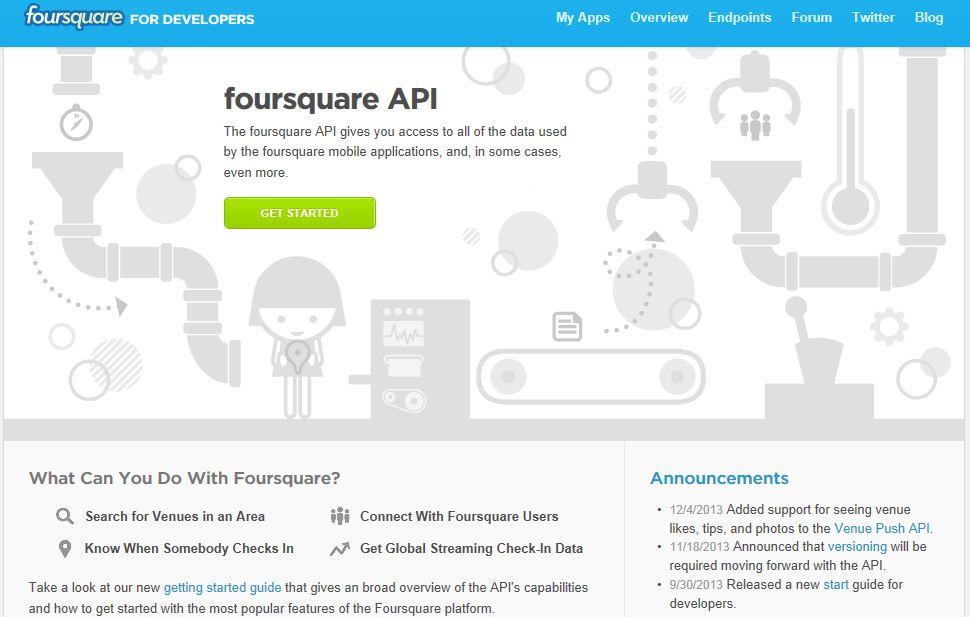 Foursquare Apis