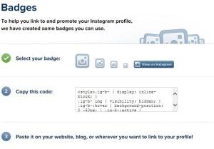 Instagram Badges API