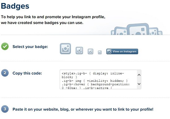 Instagram Badges API