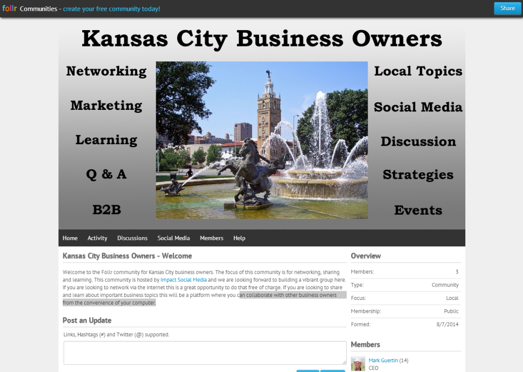 Kansas City Business Owners Follr Community