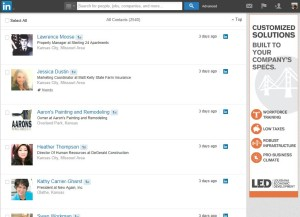 Linkedin Contacts Page