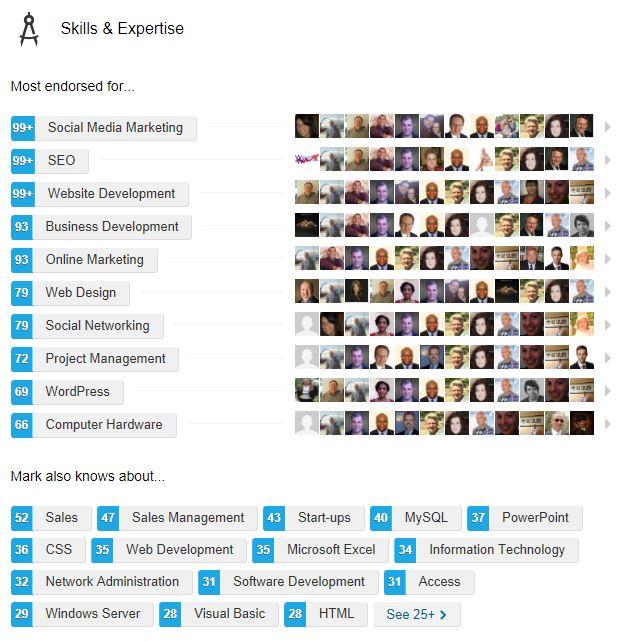 Linkedin Skill Endorsements