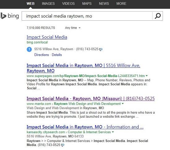 Manta Bing Local Marketing