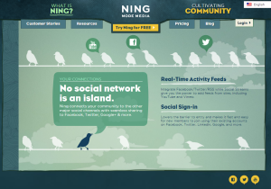 Ning Provides Full Social Media Integration