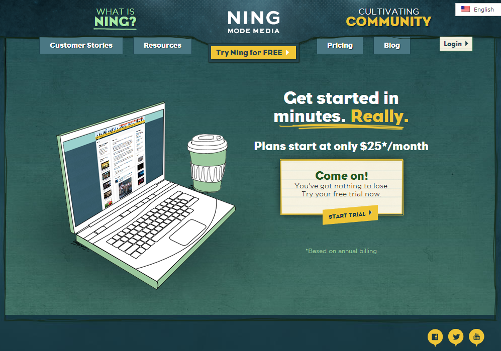 Ning Requires Fees