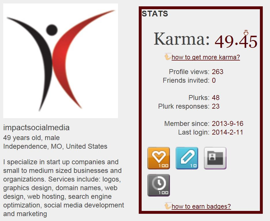 Plurk Karma And Badges
