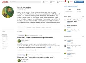 Quora Profile With Statistics