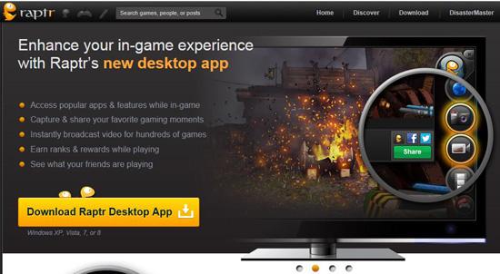 Raptr Desktop App