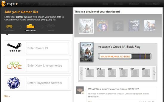 Raptr Step 2 Add Gamer IDs