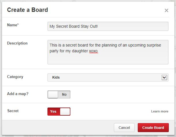 Secret Boards At Pinterest