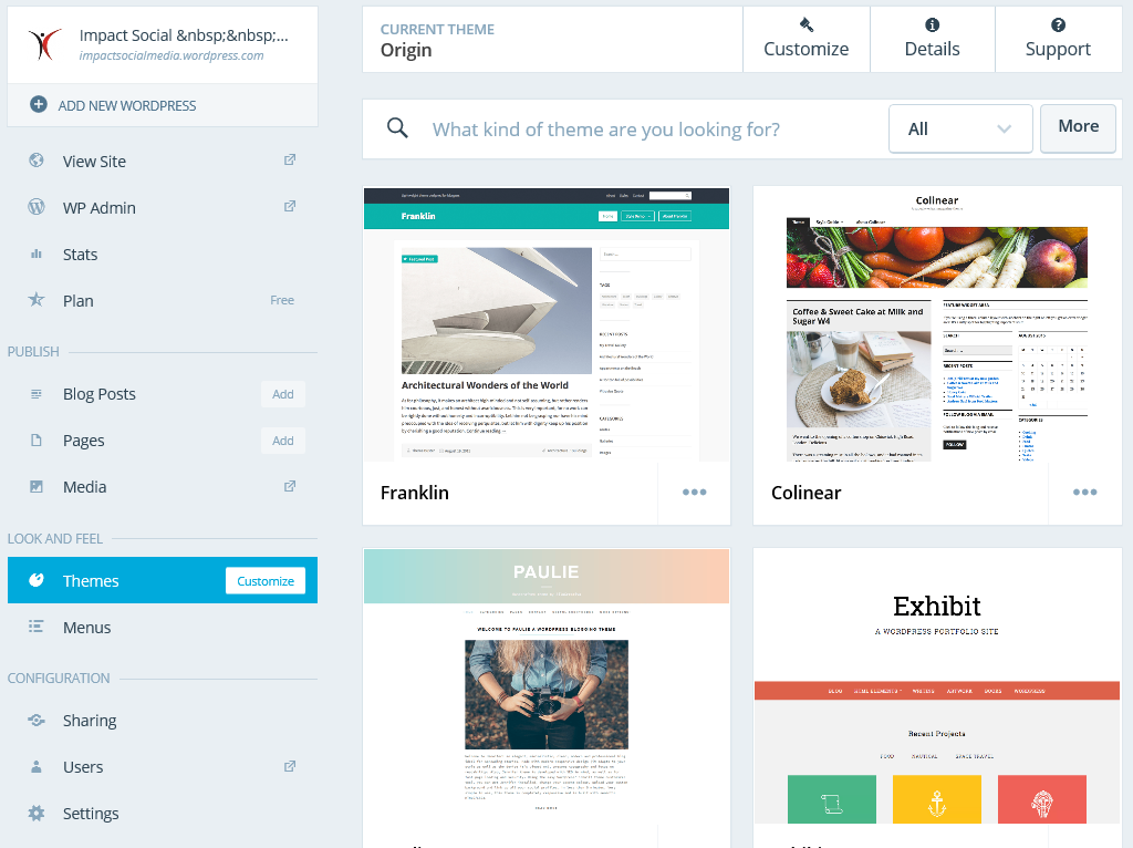 Theme Choices At WordPress