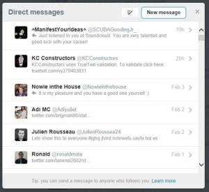 Twitter Direct Messages