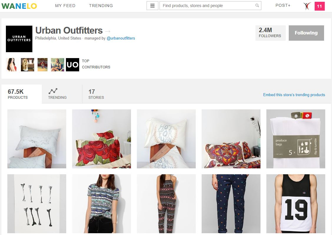 Urban Outfitters On Wanelo With 2.4 Million Followers