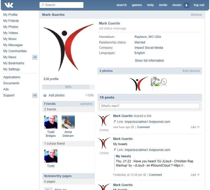 Vkontakte Personal Profile