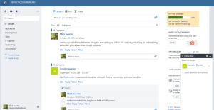 Yammer Primary Screen