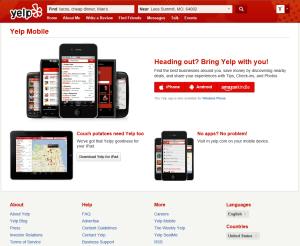 Yelp Mobile App