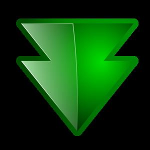 Down Arrow Green